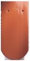 Creaton Klassik kerekvágású 1/1 vörös üvegmázas tetőcserép