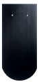 Creaton Klassik kerekvágású 1/1 fekete matt engóbozott