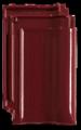 Creaton MZ3 1/1 borvörös üvegmázas FINESSE tetőcserép