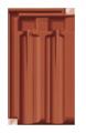 Creaton Rustico 1/1 rézvörös engóbozott NUANCE tetőcserép