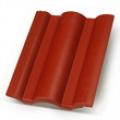 Terrán Danubia ColorSystem 1/1 bordó tetőcserép
