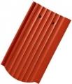 Tondach ZEMPLÉN hornyolt ívesvágású 1/1 piros (csornai) tetőcser