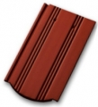 Tondach KÉKES hornyolt ívesvágású 1/1 piros (csornai) tetőcserép